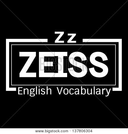 an images of ZEISS english word vocabulary illustration design