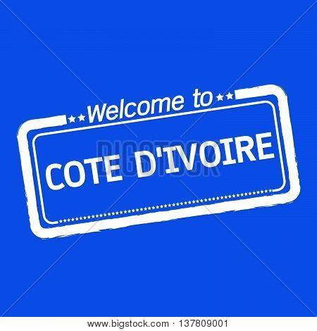 an images of Welcome to COTE D'IVOIRE illustration design
