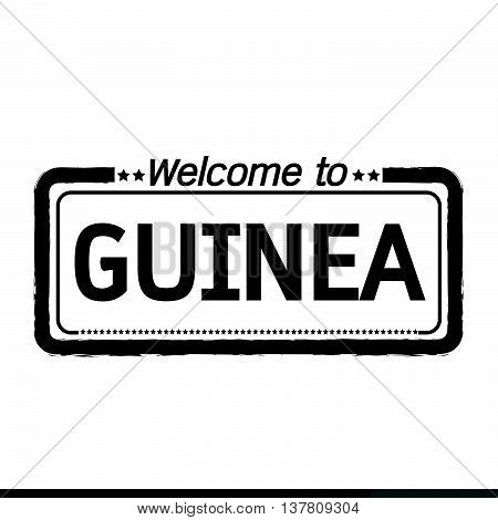 an images of Welcome to GUINEA illustration design