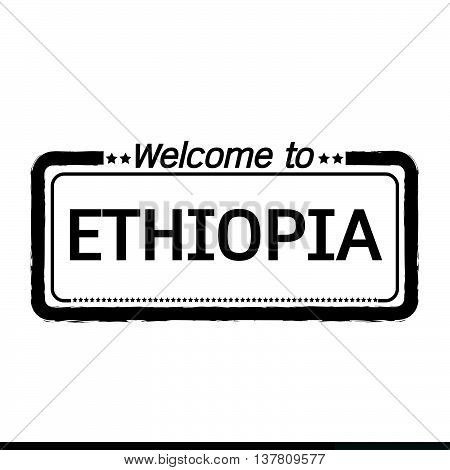 an images of Welcome to ETHIOPIA illustration design