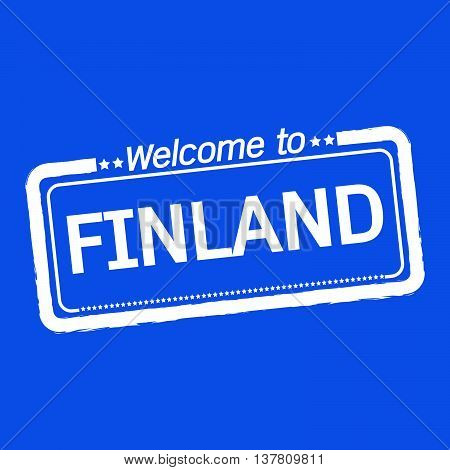 an images of Welcome to FINLAND illustration design