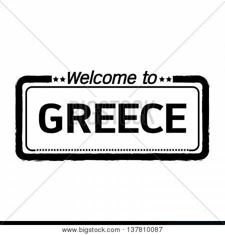 an images of Welcome to GREECE illustration design