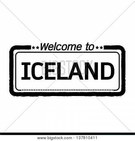 an images of Welcome to ICELAND illustration design