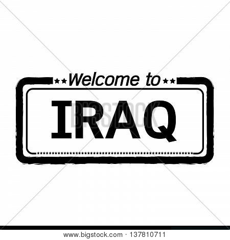 an images of Welcome to IRAQ illustration design