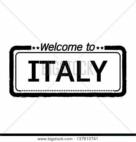 an images of Welcome to ITALY illustration design