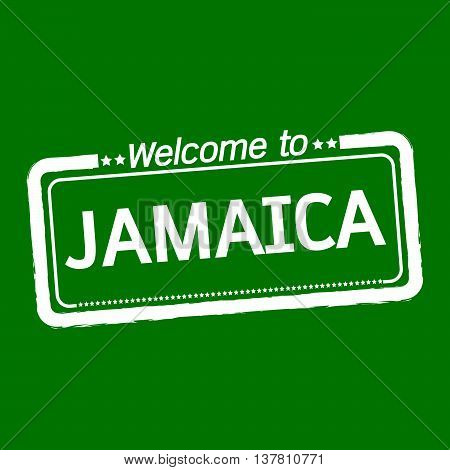 an images of Welcome to JAMAICA illustration design