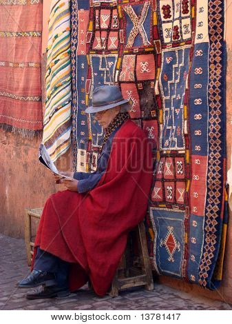Moroccan Man Selling Carpets