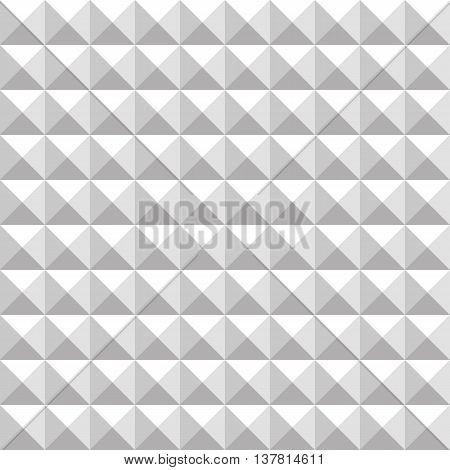 Abstract silver studded seamless pattern background. Vector illustration.