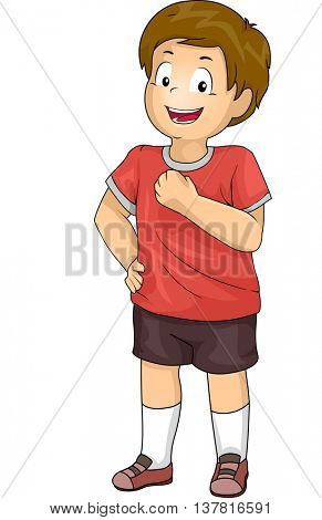 Illustration of a Boy Smiling Confidently