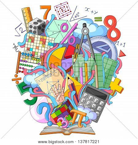 vector illustration of Book of Knowledge for Mathematics