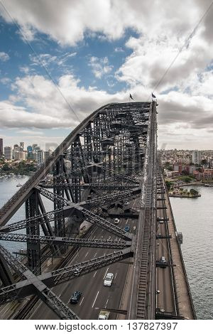 On top of the Sidney Habour bridge