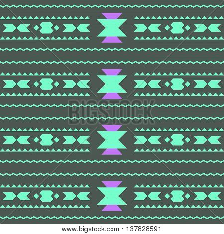ector seamless abstract decorative ethnic tribal pattern or background. Native American Indian Aztec motifs