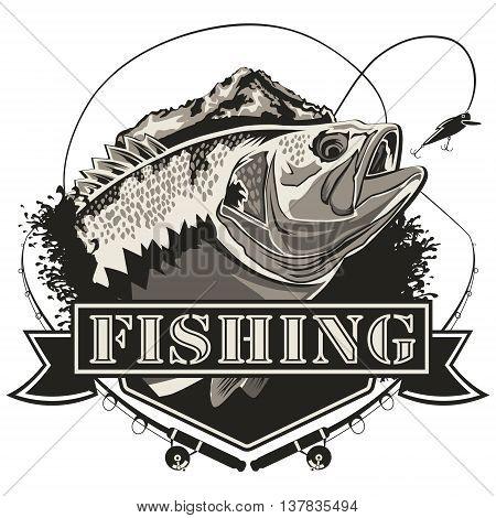 Big Bass Fishing Logo