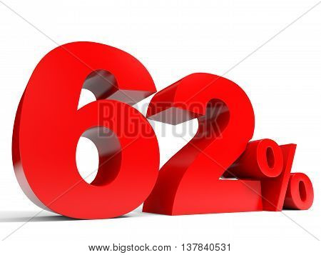 Red Sixty Two Percent Off. Discount 62%.