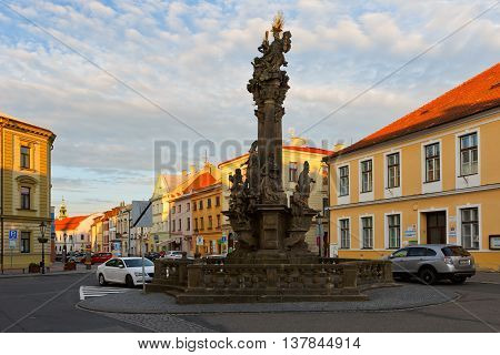 KROMERIZ, CZECH REPUBLIC - JUNE 21, 2016: One of the squares in Kromeriz city on June 21, 2016.