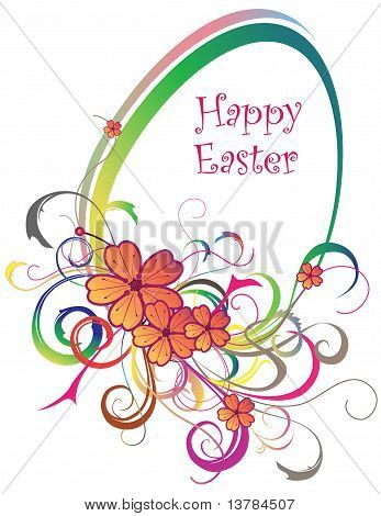 Eastern Egg Background With Lines