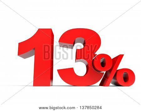 Red Thirteen Percent Off. Discount 13%.