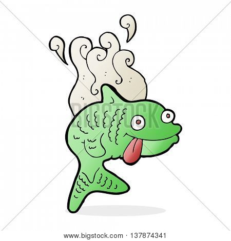 cartoon smelly fish