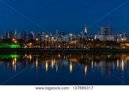 The Beautiful City Of Sao Paulo At Night