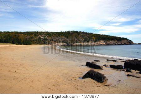 Winter Beach - Coastal Maine