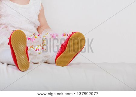 Little Girl With Red Shoes