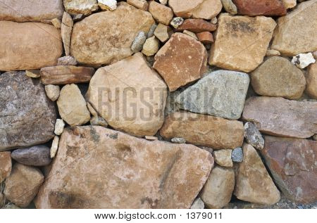 Rock Rubble Wall