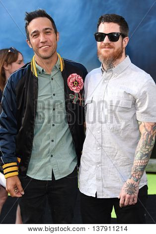 LOS ANGELES - JUL 9:  Pete Wentz & Andy Hurley (Fall Out Boy) arrives to the