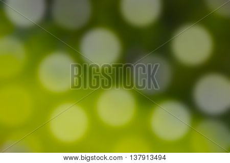 Abstract background of blurred green grass with bokeh lights