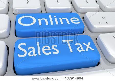 Online Sales Tax Concept