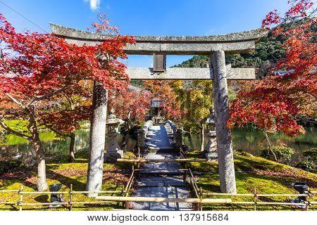Kyoto, Eikando temple in autumn Japan