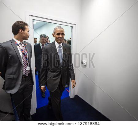 Us President Barack Obama At Nato Summit