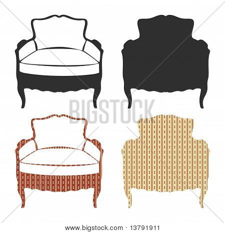 Old-fashioned armchairs