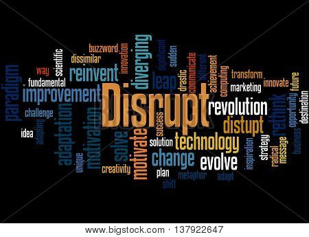 Disrupt, Word Cloud Concept 3