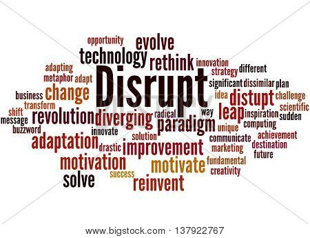 Disrupt, Word Cloud Concept 7