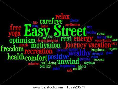 Easy Street, Word Cloud Concept 7