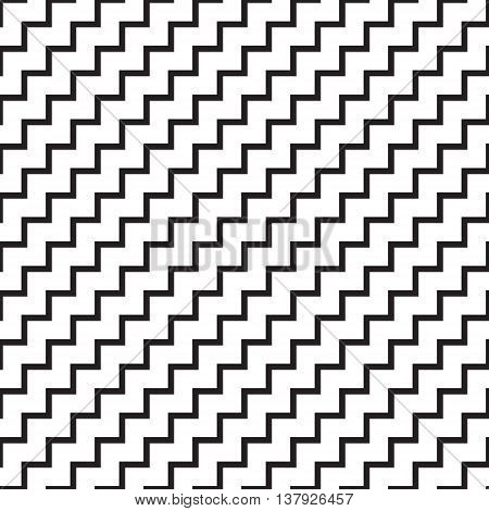 Simple geometric seamless vector pattern background black and white
