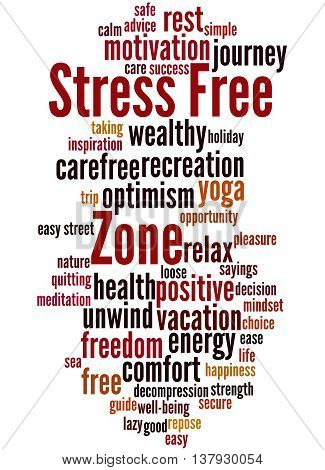Stress Free Zone, Word Cloud Concept 6