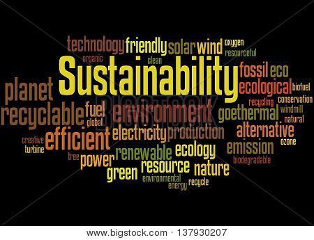 Sustainability, Word Cloud Concept