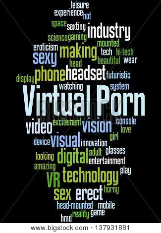 Virtual Porn, Word Cloud Concept 5