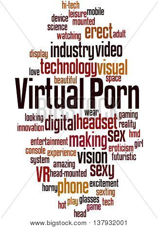 Virtual Porn, Word Cloud Concept 9