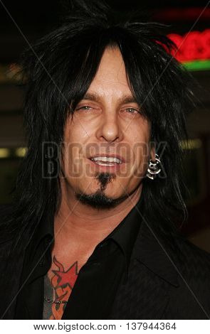 Nikki Sixx at the Los Angeles premiere of '300' held at the Grauman's Chinese in Hollywood, USA on March 5, 2007.