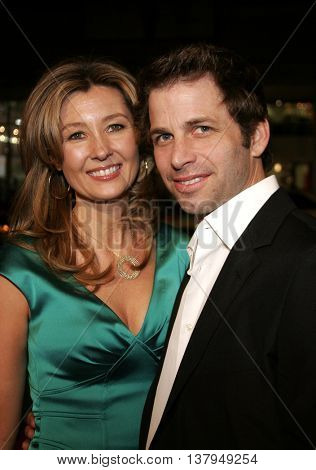 Zack Snyder and Deborah Snyder at the Los Angeles premiere of '300' held at the Grauman's Chinese in Hollywood, USA on March 5, 2007.