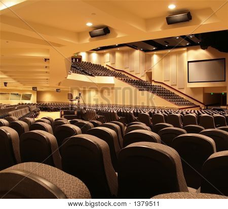 Underneath Auditorium Balcony