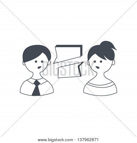 Abstract People Speaking Different Languages vector illustration