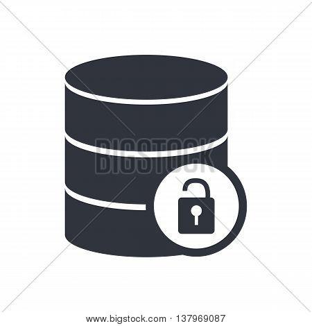 Database Lock Open Icon In Vector Format. Premium Quality Database Lock Open Symbol. Web Graphic Dat