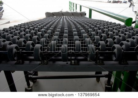 The image of automatic conveyor, Roller conveyor.
