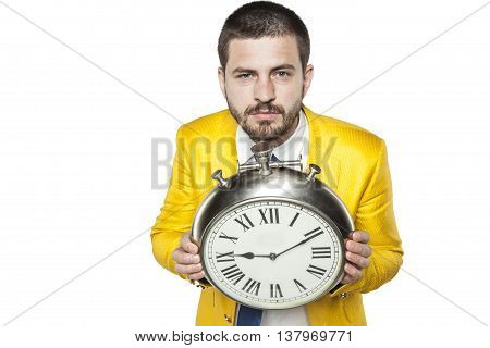 Businessman Holds Time In His Hands
