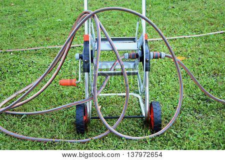 Garden hose. Garden irrigation system. Hose. Garden.