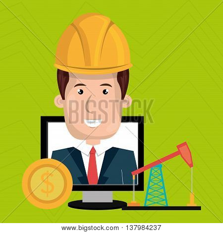 man and industry isolated icon design, vector illustration graphic