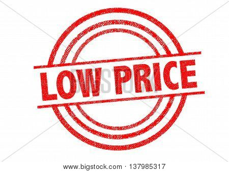 LOW PRICE Rubber Stamp over a white background.